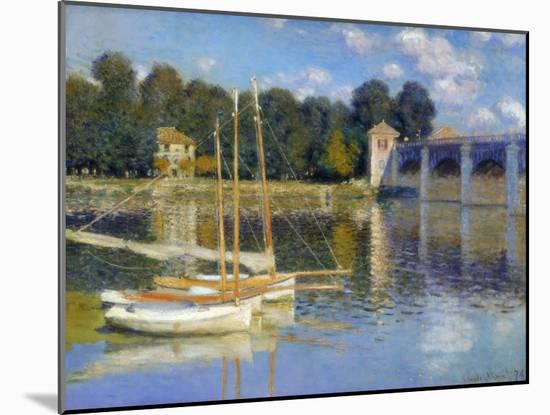 The Bridge at Argenteuil, 1874-Claude Monet-Mounted Giclee Print