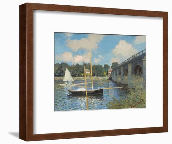 The Bridge at Argenteuil, 1874-Claude Monet-Framed Giclee Print