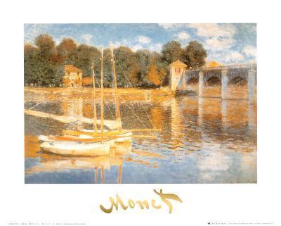 The Bridge at Argenteuil-Claude Monet-Art Print