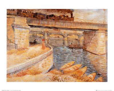 The Bridge at Asnieres-Vincent van Gogh-Art Print