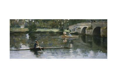 The Bridge at Grez, 1883-Sir John Lavery-Giclee Print