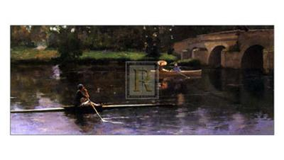 The Bridge at Grez-Sir John Lavery-Art Print