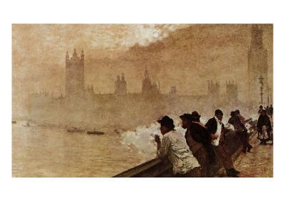 The Bridge at Westminster--Giclee Print