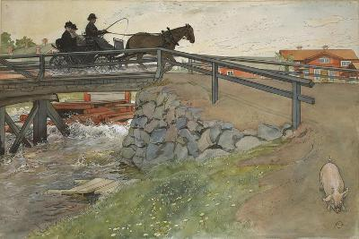 The Bridge, from 'A Home' series, c.1895-Carl Larsson-Giclee Print