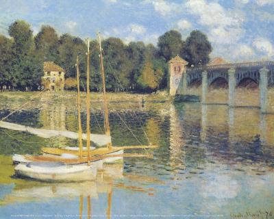 The Bridge in Argenteuil-Claude Monet-Art Print