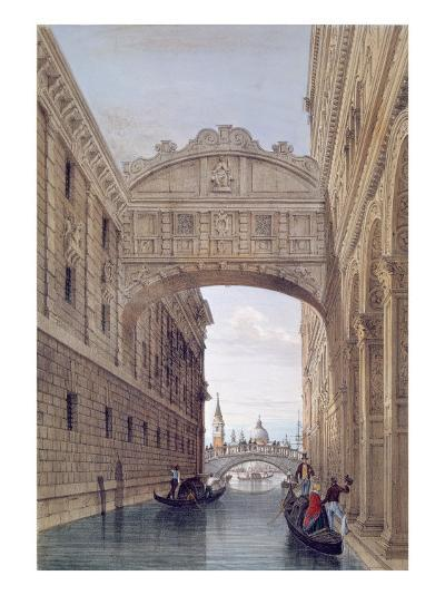 The Bridge of Sighs, Venice, engraved by Lefevre-Giovanni Pividor-Giclee Print