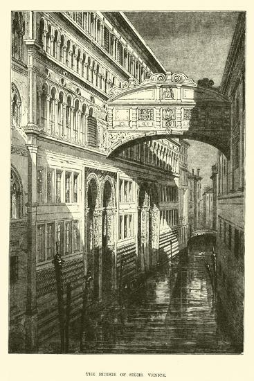 The Bridge of Sighs, Venice--Giclee Print