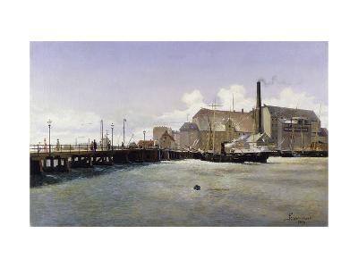The Bridge of the Old Langebro, Copenhagen-Fritz Stahr Olsen-Giclee Print