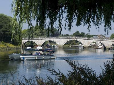 The Bridge Over the Thames at Richmond, Surrey, England, Uk--Photographic Print