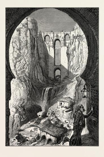 The Bridge, Ronda, 19th Century--Giclee Print