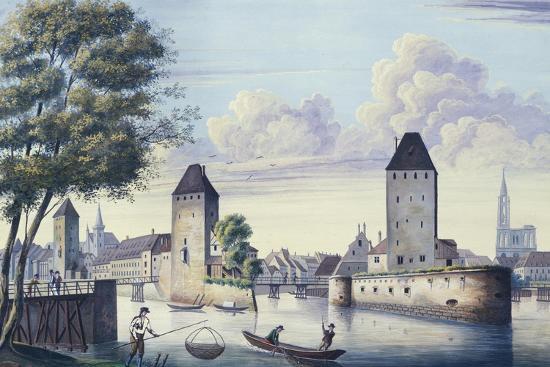The Bridges of Strasbourg, 1830-L. Urgelles-Giclee Print