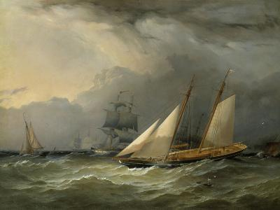 The Brig 'Pearl' and a Schooner of the Royal Yacht Squadron-Charles Gregory-Giclee Print