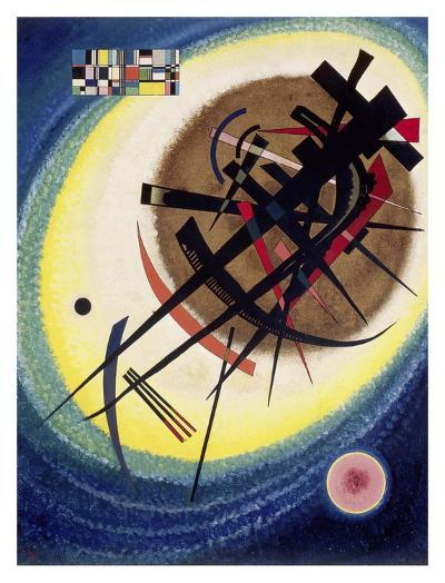 The Bright Oval-Wassily Kandinsky-Giclee Print