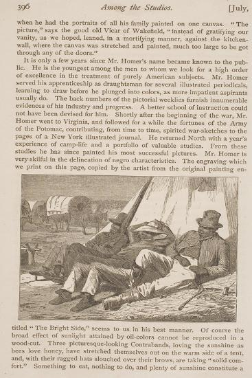 """The Bright Side, Published in """"Our Young Folks,"""" July 1, 1866--Giclee Print"""