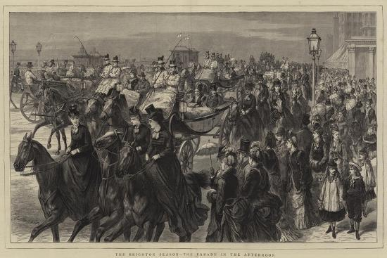 The Brighton Season, the Parade in the Afternoon-Godefroy Durand-Giclee Print