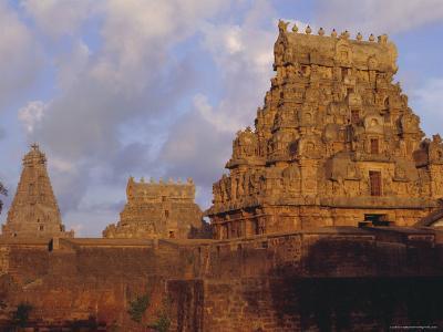 The Brihadeshwara (Brihadishwara) Temple, Built in 1000 AD, at Tanjore, Tamil Nadu, India-David Beatty-Photographic Print