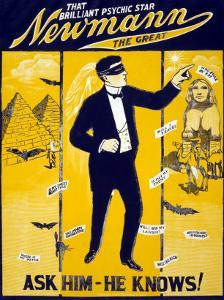 The Brilliant Psychic Star, Newmann the Great, George Newmann, Hypnotist, and Stage Magician, 1928