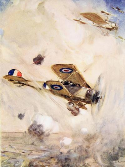 The British Airmen Arrived at the Scene of the Fight Just in Time--Giclee Print