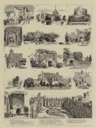 The British Archaeological Association at Brighton, the Excursion to Arundel--Giclee Print