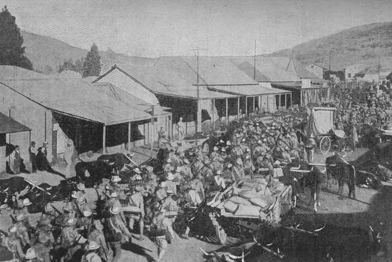 'The British Army Marching Through the Streets of Pretoria', 1902-Unknown-Photographic Print