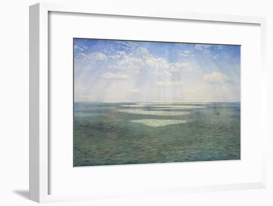 The British Channel Seen from the Dorsetshire Cliffs-John Brett-Framed Giclee Print