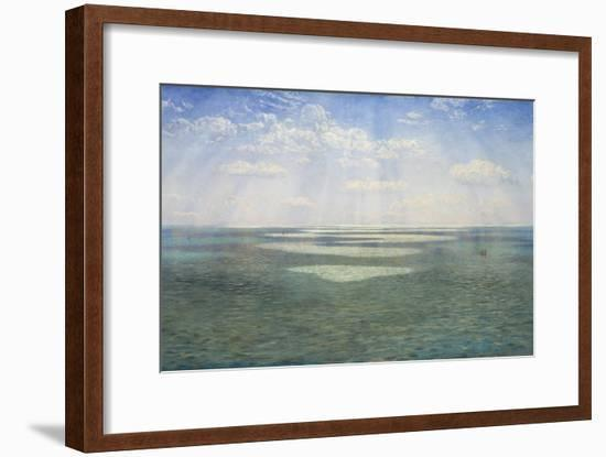 The British Channel Seen from the Dorsetshire Cliffs-John Brett-Framed Giclee Print