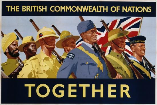 The British Commonwealth of Nations - Together Poster--Photographic Print