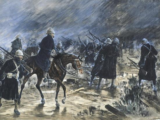 The British Entering Bloemfontein, 1900-Frank Topham-Giclee Print