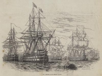The British Fleet before Lisbon-William Henry Pike-Giclee Print