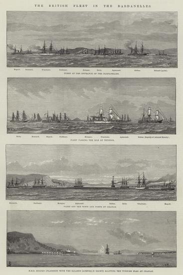 The British Fleet in the Dardanelles--Giclee Print