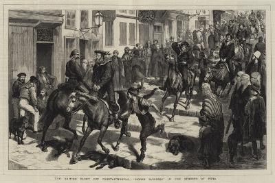 The British Fleet Off Constantinople, Horse Marines in the Streets of Pera-Godefroy Durand-Giclee Print