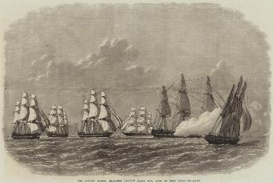 The British Flying Squadron Leaving False Bay, Cape of Good Hope-Edwin Weedon-Giclee Print