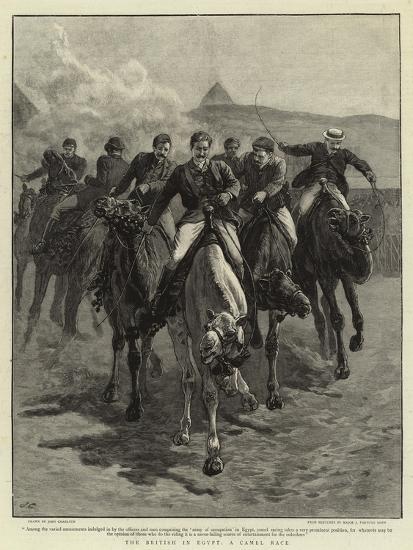 The British in Egypt, a Camel Race-John Charlton-Giclee Print