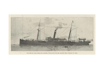 The British India Steam Ship Katoria, Which Conveyed Mr Stanley from Zanzibar to Suez--Giclee Print