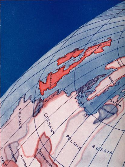 'The British Isles and Northern Europe at 6am on mid-summer day', 1935-Unknown-Giclee Print