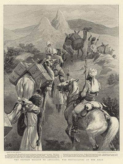 The British Mission to Abyssinia, the Difficulties of the Road-John Charlton-Giclee Print