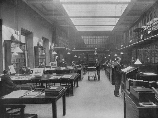 'The British Museum Print Room', c1901-Unknown-Photographic Print