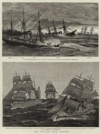 The British Navy Abroad-Charles William Wyllie-Giclee Print