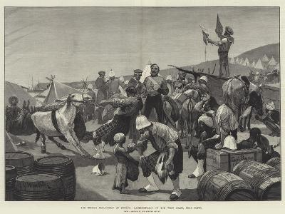 The British Occupation of Cyprus, Landing-Place on the West Coast, Near Baffo-Richard Caton Woodville II-Giclee Print
