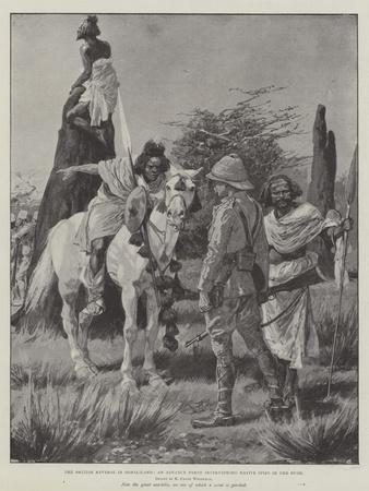 The British Reverse in Somaliland, an Advance Party Interviewing Native Spies in the Bush-Richard Caton Woodville II-Giclee Print