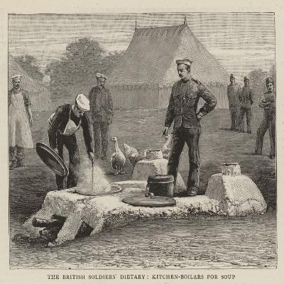 The British Soldiers' Dietary, Kitchen-Boilers for Soup--Giclee Print