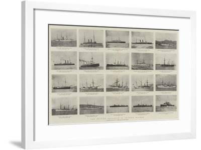 The British Squadron in Chinese Waters--Framed Giclee Print