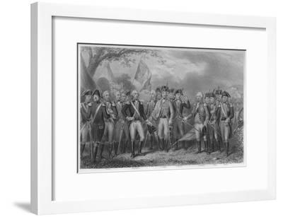 'The British surrendering their arms to Gen: Washington, 1781', 1859-James Stephenson-Framed Giclee Print