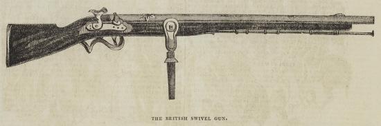 The British Swivel Gun--Giclee Print