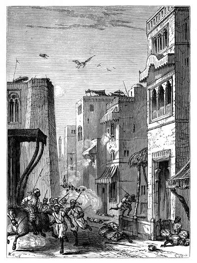 The British Troops Entering Multan, 19th Century--Giclee Print