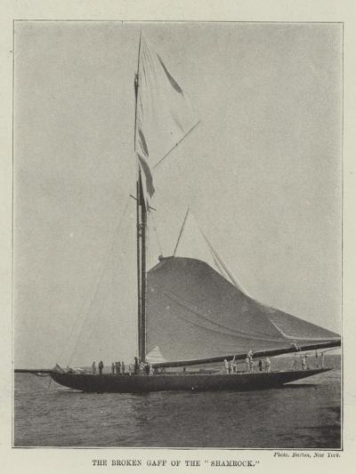 The Broken Gaff of the Shamrock--Giclee Print