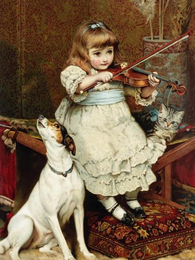 The Broken String-Charles Burton Barber-Giclee Print