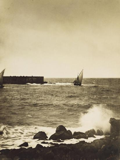 The Broken Wave; La Vague Brise-Mer, Mediterranee-Gustave Le Gray-Giclee Print