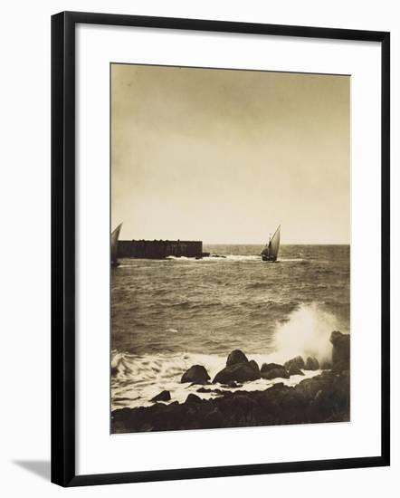 The Broken Wave; La Vague Brise-Mer, Mediterranee-Gustave Le Gray-Framed Giclee Print