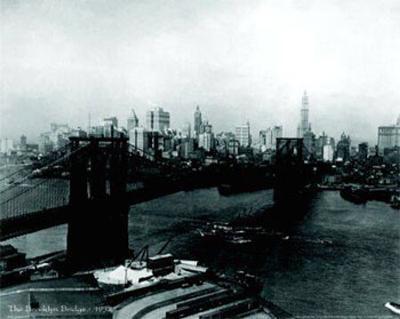 The Brooklyn Bridge, 1932--Art Print